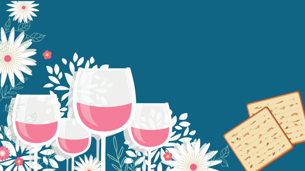 Four Cups of Wine Passover Zoom Background