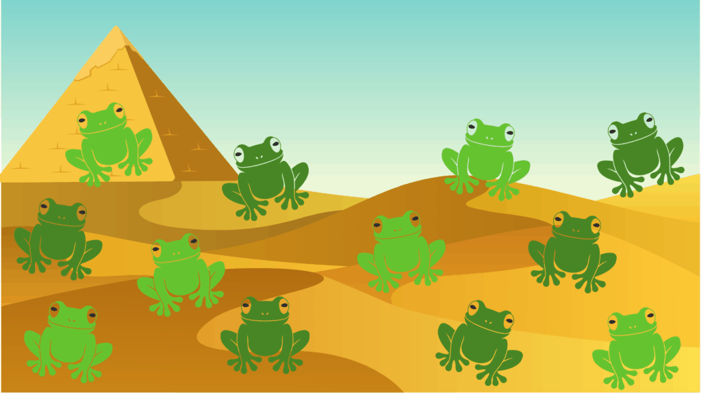 Frogs Are Jumping Everywhere Passover Zoom Background