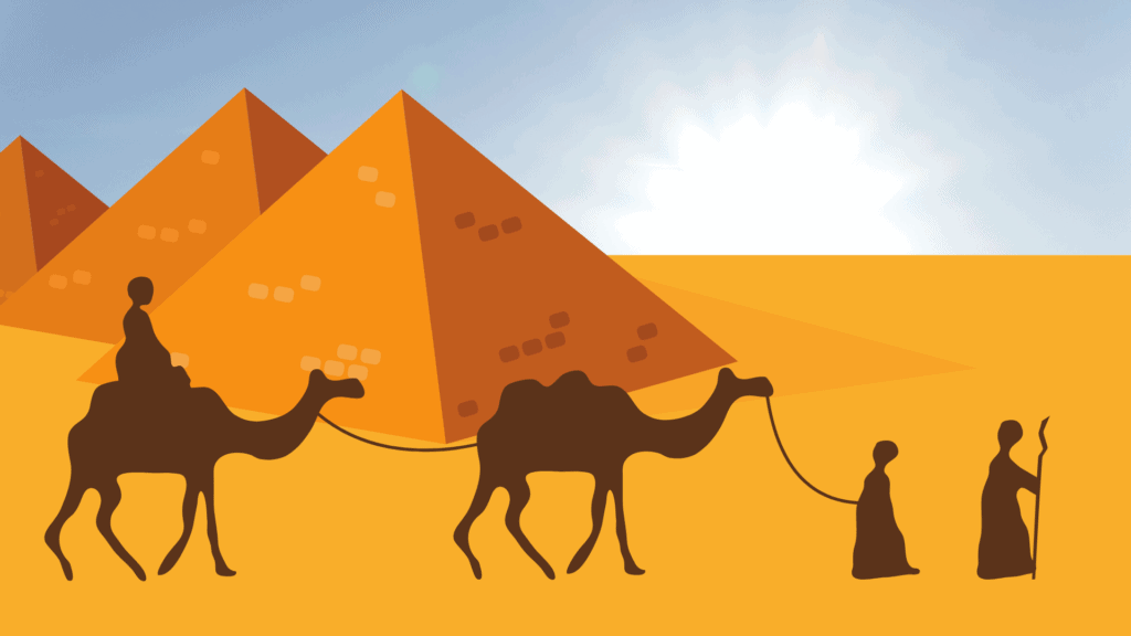Israelites in the Desert Passover Zoom Background