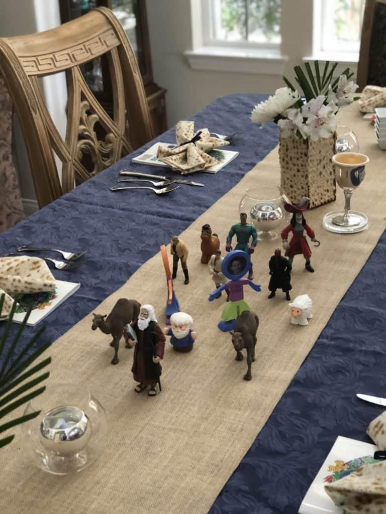 fun Passover Seder Table ideas Red Sea