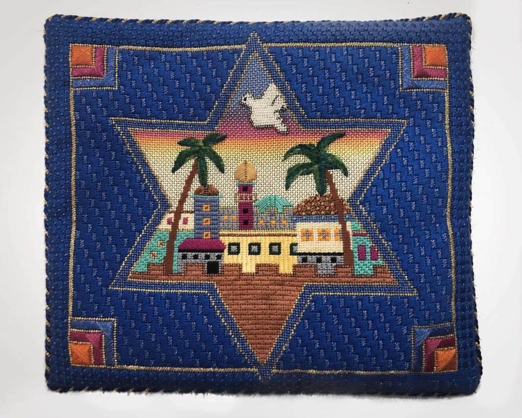 Bat Mitzvah Needlepoint Tallit Bag