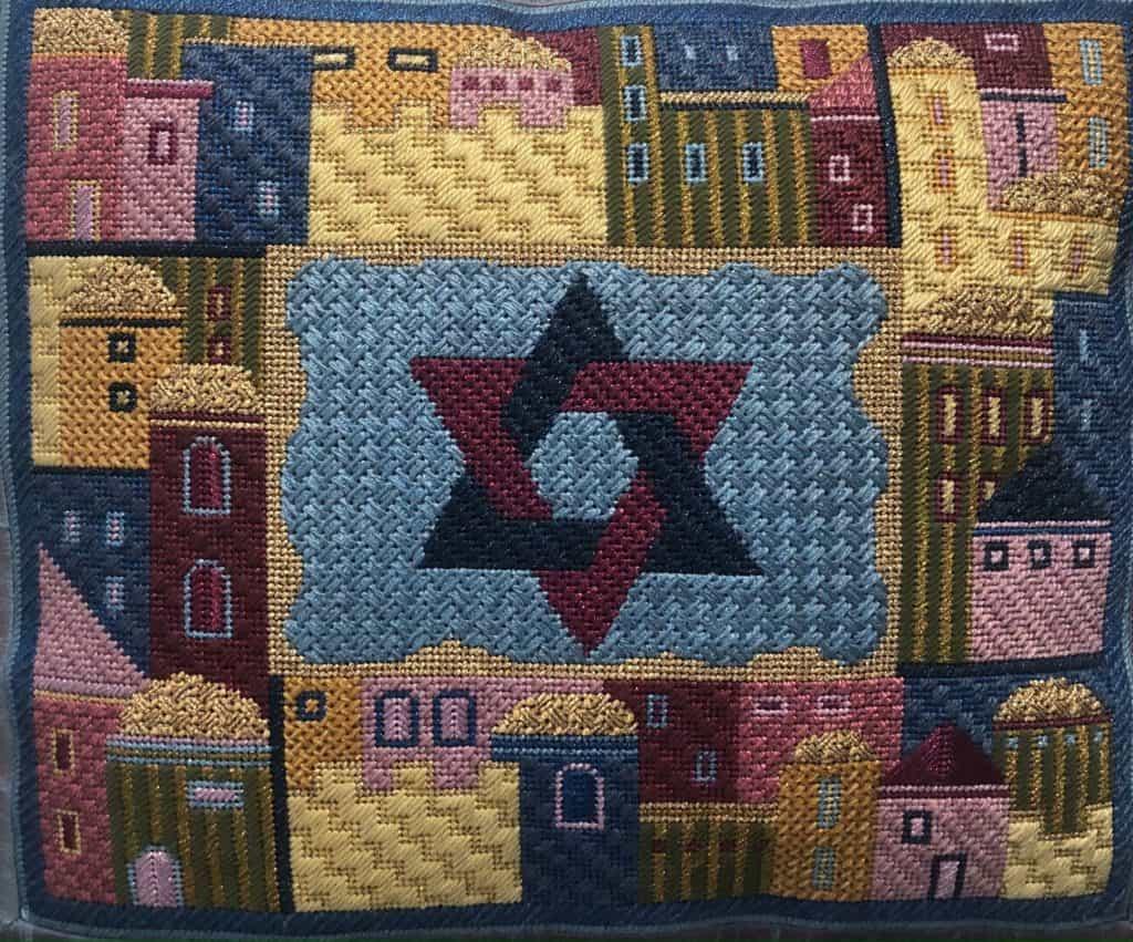 needlepoint Tallit Bag for B'nai Mitzvah