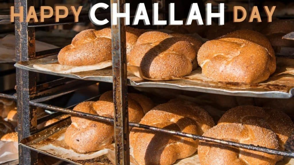 Happy Challah Day virtual background